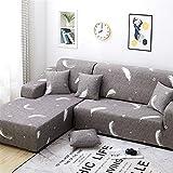 SONGHJ L Housses De Canapé en Polyester De Forme pour Salon Stretch Sectionnel Coin Canapé Housse De Canapé Housse, L Forme A Besoin D'Acheter 2 Pcs