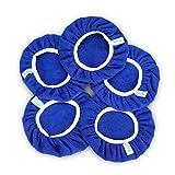 SPTA 5 pièces(225-250mm) Bonnets de Polissage en Microfibre,Car Polisseuse Pad Bonnet Buffing Pad de Bonnets de Polissage Polissage polir Bonnets électrique pour Polisseuse-lustreuse Orbitale