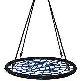 Yorbay Balançoire en Corde pour Enfants Capacité de Charge 200 kg (Ø 120cm, Bleu)