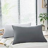 AYSW 18 Couleurs Lot de 2 Taie d'oreiller 50 x 70cm en Microfibre Fermeture Éclair Housse d'oreiller Anti-Acariens Hypoallergénique Zip