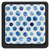 Abstract Blueberry Polka Dots Bouton de tiroir pour bibliothèque d'armoire à domicile 3 pièces avec vis