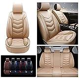 Handao-US Housses de Siège de Voiture Lin Luxe pour Subaru Legacy 2001-2020, Housse Coussin Véhicule Automobile Confortable Tout Temps (Beige)