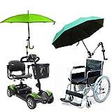 SJ Support parapluie pour voiture bébé avec connecteur pour barre de fixation pour fauteuil roulant, scooter