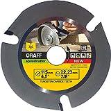 GRAFF Speedcutter Disque Bois Meuleuse 115 mm - Disque a Tronconner le Bois - Disque à Sculpter pour Meuleuse d'Angle