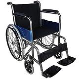 Mobiclinic, Alcázar, Fauteuil roulant pliant, orthopédique, fauteuil roulant pour les personnes âgées et les handicapés, frein sur leviers, accoudoirs fixes et repose-pieds pliants, ultra-léger, noir