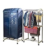 XSQUO Useful Tech Sèche-linge portable XXL, séchage par ventilation, 1200 W, capacité 30 kg, minuterie 180 min, silencieux, multifonction : sèche-linge, armoire, séchoir
