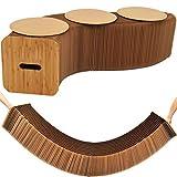 QSJi Tabouret créatif pliable en papier kraft - Table nordique - Chaise de salon pour enfants - Table de fête - Banc Ottoman Pouf Canapé
