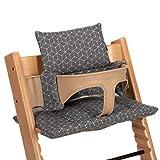 LaLoona Coussin d'Assise pour Chaise Haute Stokke Tripp Trapp 2 pièces/Housse confort Bébé, Réducteur de Siège- Gris