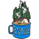 MYQ 1 pc extérieur Aventure émail Broches Sauvage randonnée Voyage Broches Collection Bus Montagne Camping Bois de Chauffage Explorer Nature Badges, Style6