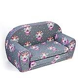 MuseHouse Canapé enfants | Sofa-Light Enfants | Enfant dans le fond pliable Canapé 2 en 1 et lit | 0-4 ans (BUTTERFLY-MHS131)