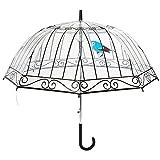 Parapluie La Chaise Longue cloche femme transparent automatique - Imprimé Cage à Oiseaux