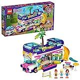 LEGO Friends 41395 LeBusdel'Amitié avec Maison de Poupée, Jouet avec Piscine et Toboggan, pour Enfant 8 Ans et +