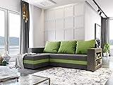 Nowak MebLiebe Sydney Canapé d'angle avec Fonction lit et Fonction de Sommeil 245 x 152 x 85 cm