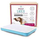 My Lovely Bed - Oreiller Latex 60x40 cm - Soutien Ferme - Ergonomique : Maintien de la Nuque et des cervicales - Orthopédique - Coton - Rafraîchissant - Hypoallergènique