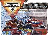 Monster Jam El Toro Loco vs. Cyclops Monstres coulés sous Pression avec Changement de Couleur, échelle 1/64
