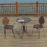 Table et chaise d'extérieur en fonte d'aluminium Combinaison de table et de chaise de balcon, table et chaise de loisirs Mobilier de jardin Table et chaise de balcon, mobilier de terrasse Ensemble