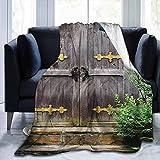 KENDIA Flanelle Jette des couvertures canapé Durable Rustique, Ancienne entrée du château, pour Chaise Bureau Voyage Camping