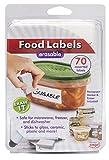 Jokari 47826 - Kit de Démarrage - Étiquettes d'Aliments Effaçables avec 70 Étiquettes Assorties, Gomme et Stylo - Blanc