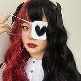 weichuang Masque de sommeil pour homme et femme - Cache-yeux - Cosplay, en forme de cœur - Broderie - Masque pour les yeux - Masque en coton