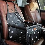 BYGD Siège auto pour chien - Siège pliable et respirant de qualité supérieure - Sac de voyage pour les sièges avant et arrière de la voiture - Robuste (40 × 30 × 25 cm)