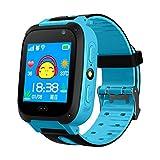 ZTYY Enfants Smart Watch GPS Tracker Micro Sim Card Cirque Child Camera Anti-Lost Position Alarme Smart Montre pour Baby Girl Garçon Cadeau (Color : Blue)