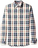 Goodthreads Slim-Fit Long-Sleeve Pattern Chambray Shirt, Chemise Casual Homme, Vert (Green/Ivory Plaid Gre), Small