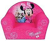 FUN HOUSE 712810 Disney Minnie Paris Fauteuil en Mousse pour Enfant 52 x 33 x 42 cm