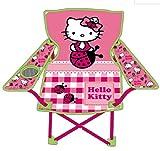 ARDITEX - Hk7724 - Maison De Jardin - Chaise Pliable De Camping - Hello-Kitty - 63 x 36 x 52 Cm