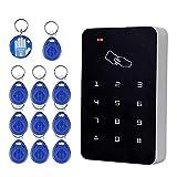 OBO HANDS RFID Autonome de lecteur de cartes de contrôle d'accès avec clavier numérique + 10 touches Tk4100 pour maison/appartement/Factory Système sécurisé