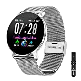 Montre Connectée Femmes Homme Smartwatch,IP68 Montre Femme Homme Pas Cher,Montre Sport étanche Podometre Cardiofrequencemètre Fitness Tracker Bracelet Intelligent Compatible avec iOS et Android