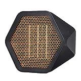 Decdeal Mini Radiateur Soufflant Céramique,1000W 40DB Pas De Bruit,2 Réglages de Température,Matériau Ignifuge De Haute Qualité Contrôle Intelligent Protection Contre Surchauffe,Radiateur Soufflant
