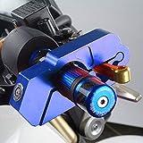 Verrou de Frein pour Moto, Alliage daluminium Verrouillage de Guidon pour Moto Serrure Antivol Verrouillage de Sécurité (Bleu)