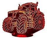MF Tracteur, lampe 3D à LED - led illusion 3D - 7 Couleurs
