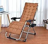 Coussins de Chaise à Bascule Portable Coussin de Chaise Longue Pliante, épaissir Le Coussin de Chaise d'une Seule pièce à Dossier Haut Coussin de Chaise en rotin antidérapant-Marron
