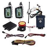 EASYGUARD EM212 Système d'alarme de moto 2 voies avec écran LCD téléavertisseur, capteur de choc intégré et capteur à micro-ondes 12 V CC