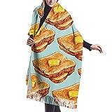 H.D. Cachemire Hiver Chaud Écharpe Pour Femmes Modèle de pain grillé Pashmina Châle Wrap Hommes Grandes Écharpes Douces pour Autum et Hiver 196cm x 68cm