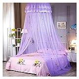 SHWYSHOP Moustiquaire pour lit à baldaquin Rideaux de lit pour Enfants et Adultes crypté Fil Hexagonal dôme Dessin animé L (moustiquaire)