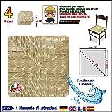 1002 - Assise de chaise en paille cellulose, carrée (37x 37 cm), pour chaise Pisa