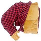 Coussin Boyfriend Petit ami câlin oreiller mari câlin oreiller bras corps coussin rouge chemise à carreaux avec de vrais boutons blague jouet Gag cadeau pour anniversaire