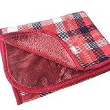 Miwaimao Couverture chauffante multiplexée super douce et chaude pour canapé, bureau, lavable en machine 130 x 80 cm, non imprimé, rouge