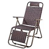 Chaise pliante en rotin améliorée Bureau inclinable Chaise de déjeuner Pause déjeuner Chaise de repos Chaise paresseuse Chaise pour personnes âgées Chaise extérieure en osier Chaise de plage de loisir