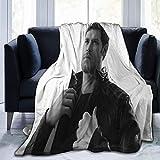 GOSMAO Couverture en flanelle polaire douce et légère, chaude et confortable pour canapé/chaise/canapé Joseph-Morgan 127 x 102 cm