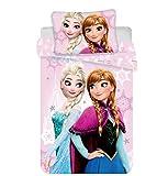 JERRY FABRICS Disney Frozen Parure de lit en Coton Multicolore 40 x 60 + 100 x 135 cm