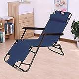 Chaise Longue Pliante, fauteuils inclinables extérieurs à gravité Nulle, Chaise Portable de Camping avec pelouse et Cou