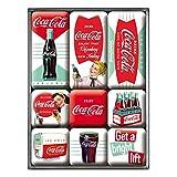 Coca-Cola Boite de 9 Mini-Magnets