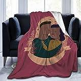 keiou Couverture en Flanelle Fine et Confortable, thème de l'amour enlacé par Un Couple Romantique, Ensemble de literie décoratif 2 pièces avec 1 taie d'oreiller, Couverture de climatiseur50'X40'