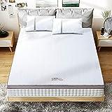 BedStory [Nouvelle Technologie Surmatelas 140 x 190 x 5cm Mémoire de Forme Gel Infusé, Surmatelas 2 Personnes Plus Rafraichissant, Déhoussable et Lavable