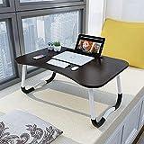 Table de lit réglable pour ordinateur portable, lit et canapé, plateau de lit pour petit-déjeuner, café, support de lecture pour enfant, 60 x 40 cm