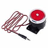 KERUI Nouvelle Mini Sirène Filaire pour GSM/WiFi À Domicile D'alarme de Sécurité Système 90 DB Alarme Accessoires sirène - 90dB Sirène Filaire Corne Président pour Système d'alarme de sécurité GSM
