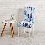 Couverture de chaise de banquet de restaurant en quatre pièces une pièce élastique extensible hôtel banquet restaurant chaise de salle à manger couverture taille universelle bleu glace dreamland LJ